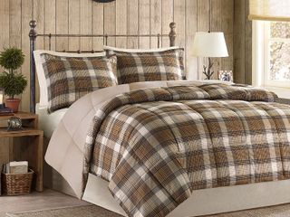 Woolrich lumberjack Multi Classic Quilting Soft and Cozy Microfiber Solid Reverse Down Alternative Comforter Set   Retail  68 89