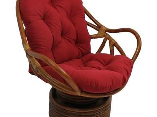 Blazing Needles 48 inch Solid Swivel Rocker Cushion   Retail   62 99