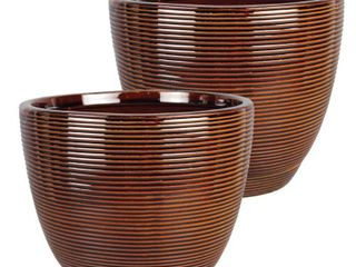Southern Patio Caylin Planter   2 pack   8in  Diameter   Retail   46 49