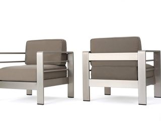 Cape Coral 4  piece Outdoor Chat Set with Coffee Table by Christopher Knight Home   Retail  1293 99    1 CHAIR ONlY
