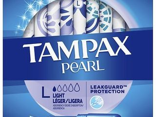 TAMPAX PEARl lIGHT 36CT 2 boxes