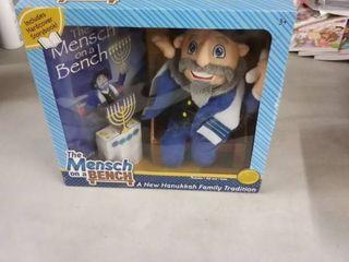 Hanukkah The Mensch on a Bench Stuffed Doll