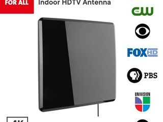 One For All 14432 Amplified Indoor Flat HDTV Antenna   Supports 4K 1080p