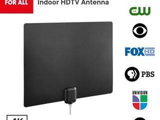 One For All 14542 Amplified Indoor Ultra thin HDTV Antenna   Supports 4K 1080p