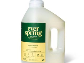 laundry Detergent   lemon   Mint   100 fl oz   Everspring as is