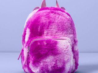 Girls  Tie Dye Faux Fur Mini Backpack   More Than Magic Purple