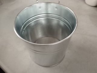 silver pail bucket