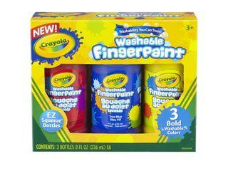 Crayola 3ct 8oz Washable Fingerpaint   Bold Colors