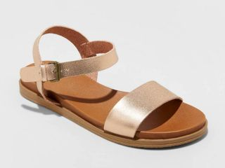 Women s Nyla Ankle Strap Sandals   Universal Thread Rose Gold 8 5