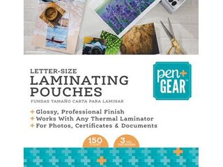 Pen Gear laminating Pouches  9 in x 11 5 in  150 Count