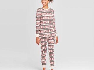 Women s Thermal Pajama Set   Stars Above Oatmeal Heather M  Oatmeal Grey