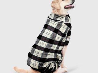 Holiday Plaid Flannel Dog Matching Family Pajamas   White   l   Wondershop