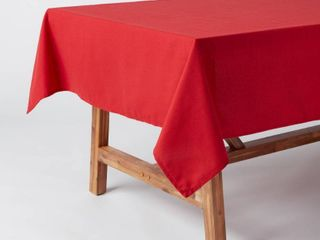 104  x 60  Cotton Tablecloth Red   Threshold