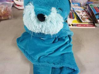 pillowfort walrus hooded blanket