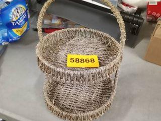 brown small basket