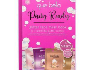 Que Bella Glitter Face Mask Book   6ct 0 35oz each