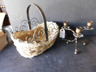 Wicker   Metal Basket