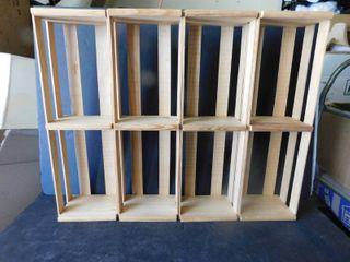 Pine Crates  set of 4