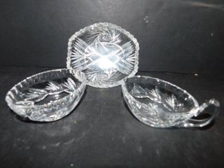 Crystal Condiment Dishes