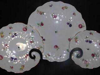 Ansley China Tiered Dessert Plates