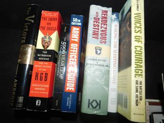 lot of 7 Books Military Themed