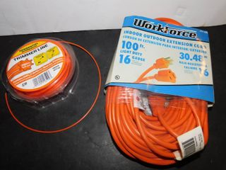 Weed Trimmer String   100 Foot Extension Cord