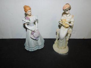 2 Porcelain lady Figurines