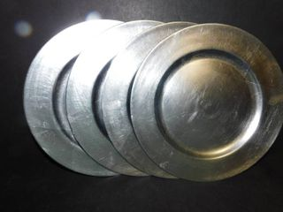 Set of 4 Silver Plate Chargers