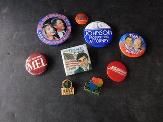 Political Pins   Buttons