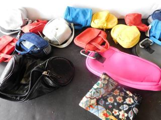 Total of 16 small coin cellphone purses