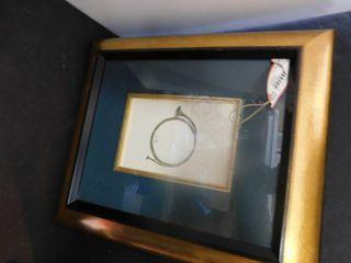 Framed French horn pictire