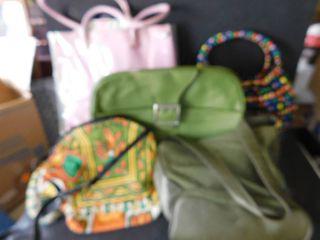 Five vintage purses