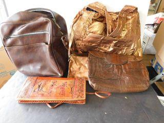 Four purses bags