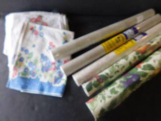 Tea towels   shelving contact paper