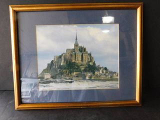 Framed and matted print