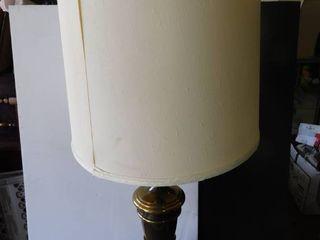 Metal lamp with lamp shade