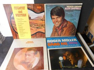 lot of four albums   Glen Campbell   3 others