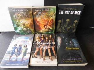 lot of six paperbacks