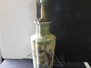 Porcelain and Wood lamp