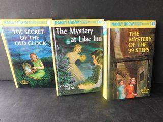Three  3  Nancy Drew hardbacks