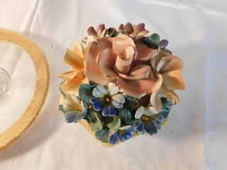 beautiful floral box with lid