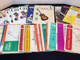 Piano lesson Books and Guitar Books