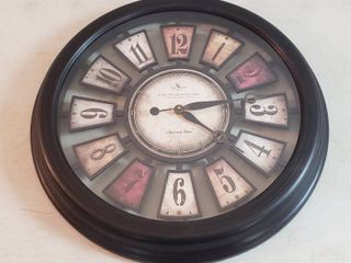 large Battery Operated Wall Clock   22 in  diameter   Plastic