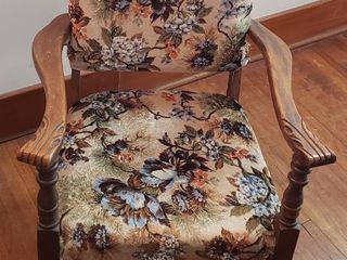 Project Vintage Upholstered Rocker   Seat  18 in  wide