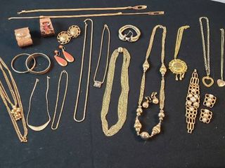 Fashion Jewelry  Copper   Goldtone Necklaces  Bracelets and Clip Earrings