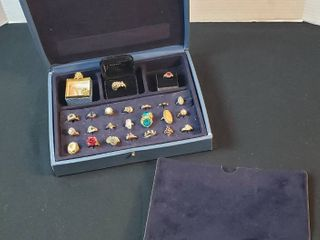 Fashion Jewelry  Rings w Avon Jewelry Storage Case