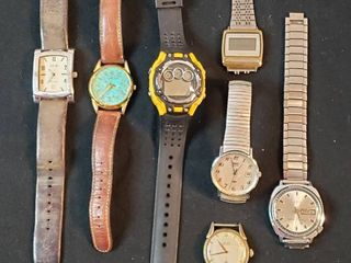 Men s Fashion Watches  Fossil  Timex  Gruen  Elgin  and Bolivia   2 w o bands