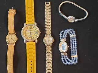 ladies Fashion Watches  Guess  Geneva  Reliance  Overload  Timex and Bulova