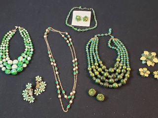 Vintage Fashion Jewelry  Necklaces  Brooches and Clip Earrings