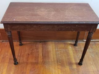 Wood Piano Bench   No storage   30 x 14 x 21 in  tall
